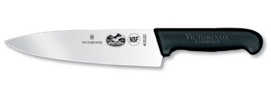 Victorinox Fibrox Straight Edge Chef's Knife, 8-Inch