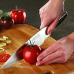 kitchen knife and tomato