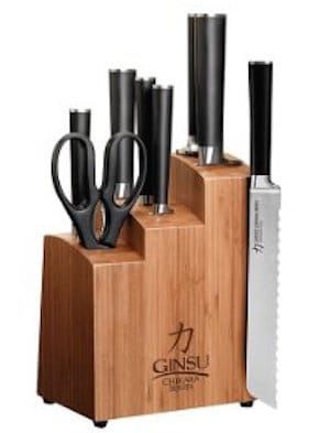 Ginsu 7108 Chikara 8-Piece Knife Set with block