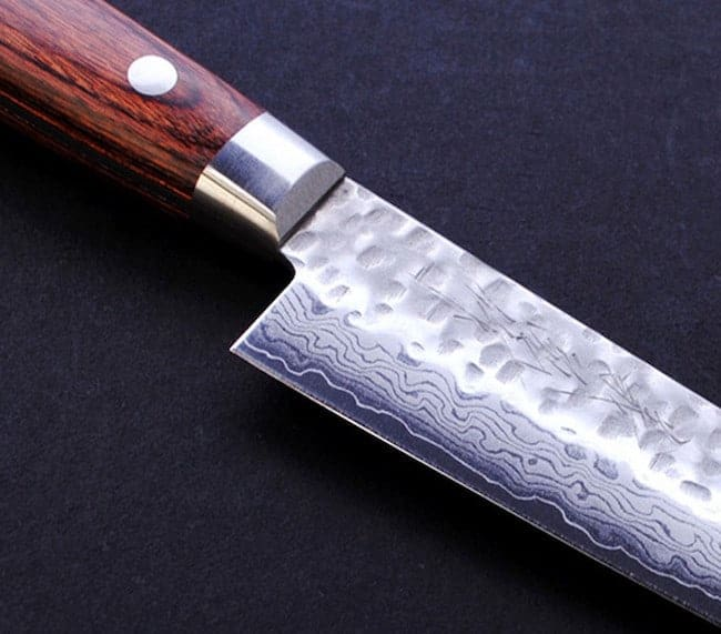 Yoshihiro VG10 16 Layers Hammered Damascus Nakiri Japanese Vegetable Chefs Knife 6 inch 1st Edition 2