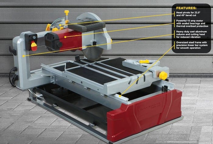 2.5 Horsepower 10%22 Industrial Tile:Brick Saw 2