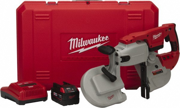 Milwaukee 0729-21 V28 4-3:4-Inch by 4-3:4-Inch Capacity 28-Volt Lithium Cordless 2 Range-Variable Speed Portable Band Saw 2