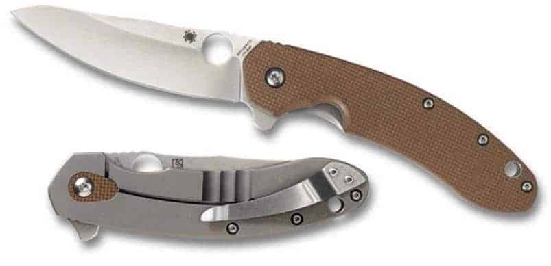 Spyderco Southard Folder G-10 Plain Edge Knife, Brown 1