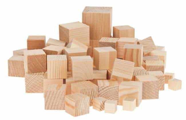 pine wood blocks