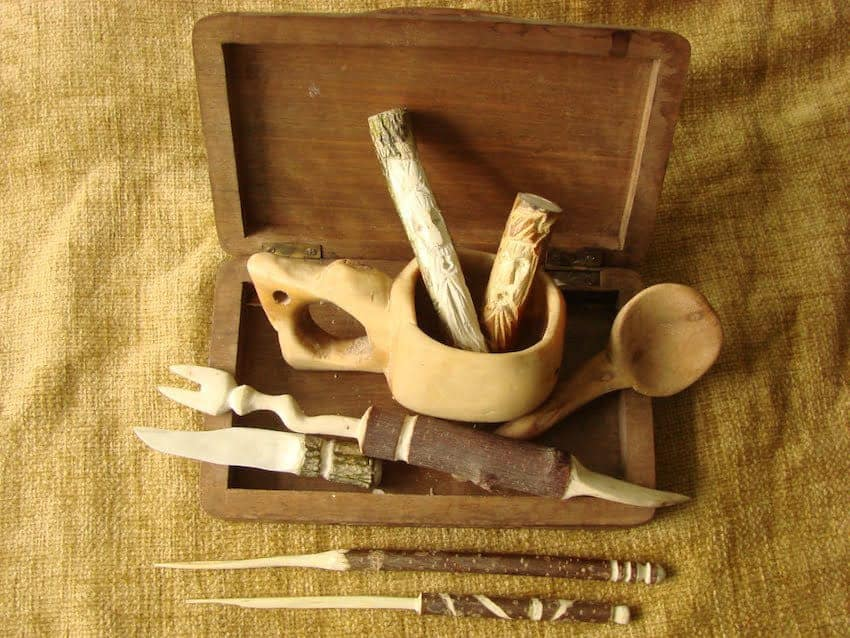 A series of completed whittling projects (Credit: Jimmy Lung)