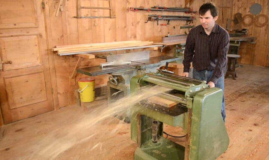 a thickness planer