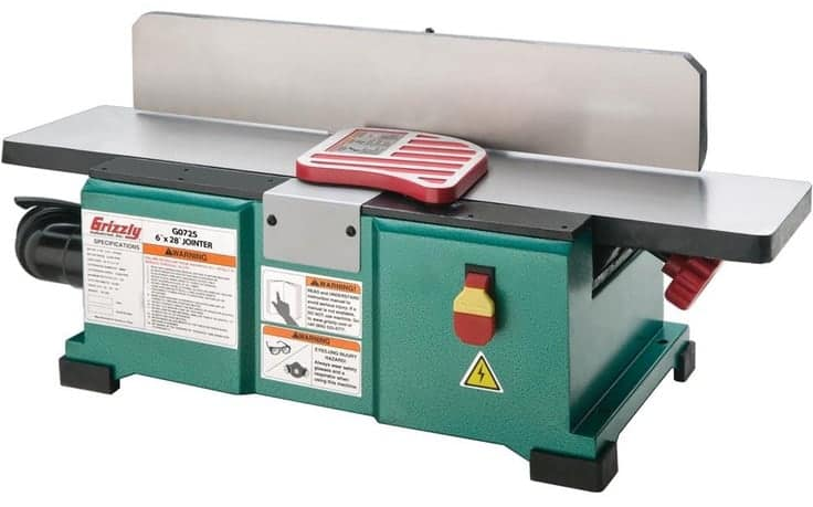 benchtop jointer grizzly