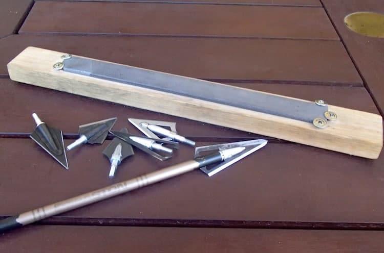 A home made stone sharpener for broadheads