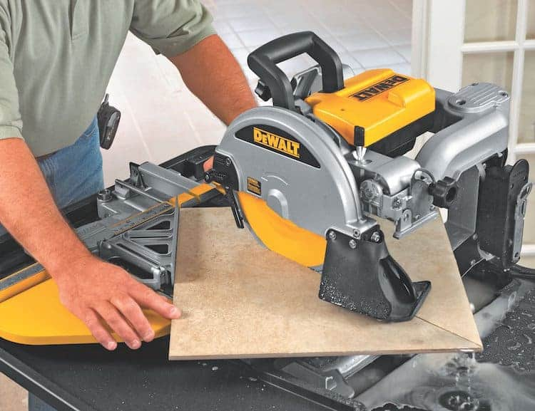 uses of a wet tile saw