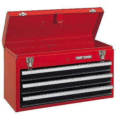 Craftsman 3 Drawer Metal Portable Chest Toolbox Red