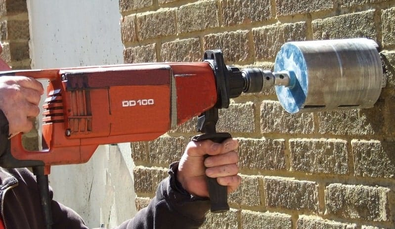 Cutting Holes In Concrete : How to use a core drill sharpen up