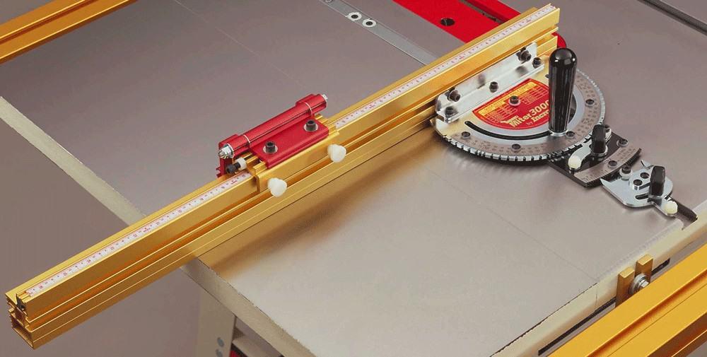miter gauge actuator lever