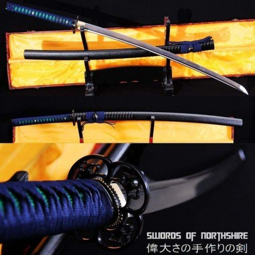 Folded Steel Blade Samurai Sword Maru Katana (Hand-Forged)