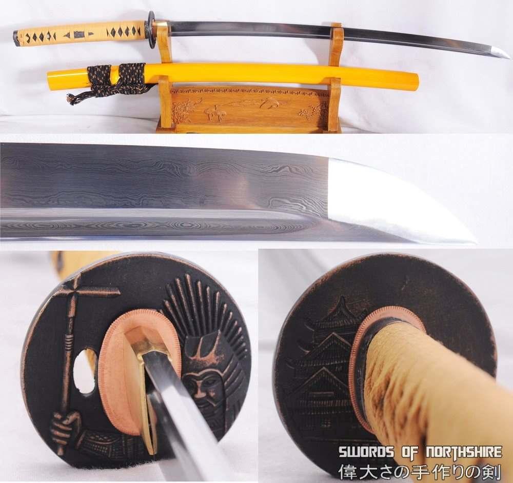 Folded Steel Blade Samurai Sword Sabaku No Senshi Katana (Hand-Forged)