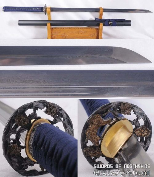 Ninjato Folded Steel Blade Samurai Ninja Toge No Bara Sword (Hand-Forged)