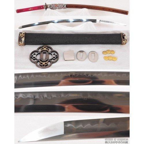 O-Kissaki Deep Sori Shinogi-Zukuri (Handmade Clay-Tempered) 1095 Steel Samurai Katana Sword