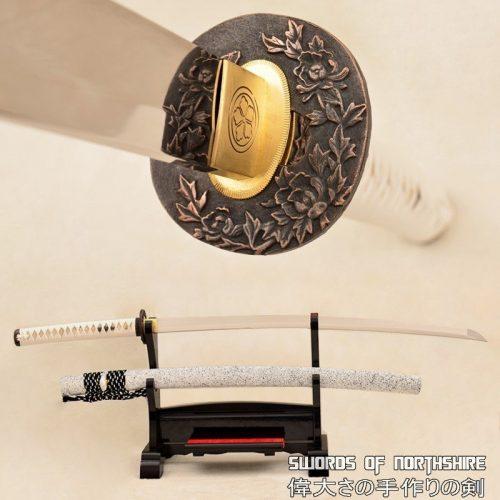 Snow Flower 9260 Spring Steel Japanese Samurai Sword Battle Ready Katana (Hand-Forged)