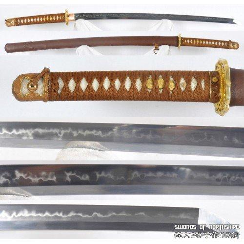 WW2 Type 98 Shin Gunto Japanese Officer Samurai Sword (Clay-Tempered) 1095 Steel Katana