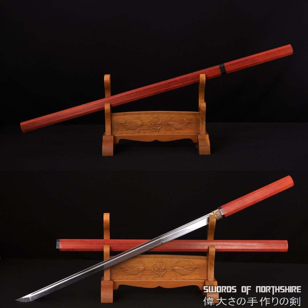 Zatoichi the Blind Swordsman 1095 Samurai Ninja Shirasaya Sword (Hand-Forged Clay-Tempered)